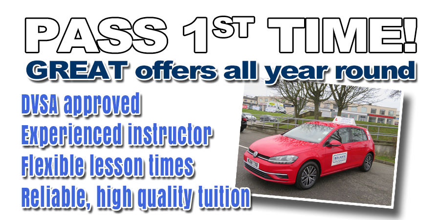 Driving lessons with Bryan&s School Of Motoring